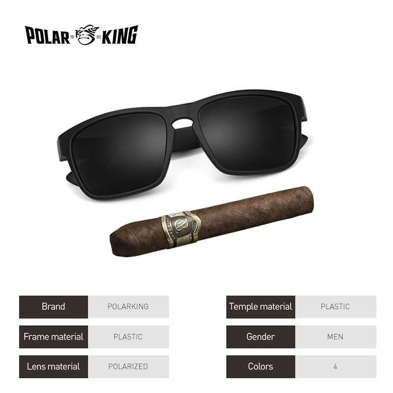 3338a6f87c POLARKING Brand Polarized Sunglasses For Men Plastic Oculos de sol ...