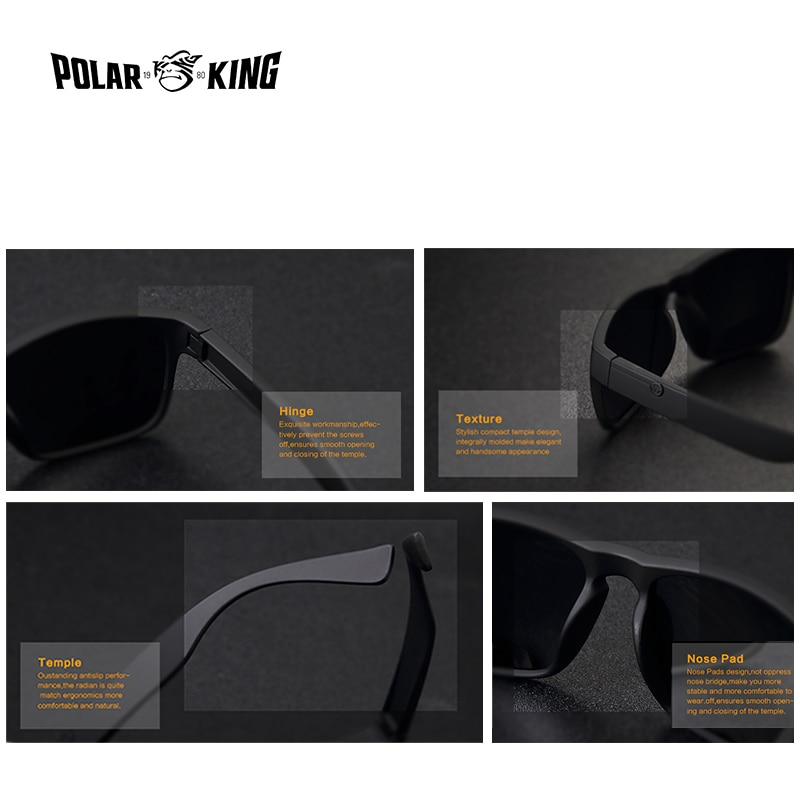 120fd54faaee6 POLARKING Brand Polarized Sunglasses For Men Plastic Oculos de sol ...