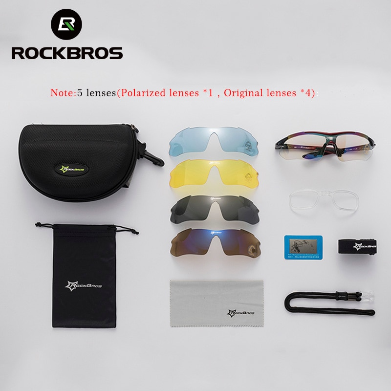 bd6c515f80 RockBros Polarized Cycling Sun Glasses Outdoor Sports Bicycle Glasses Men  Women Bike Sunglasses ...