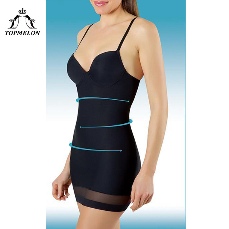 0a168485c TOPMELON Women Slimming Underwear Control Slips Sexy Push Up Dress ...