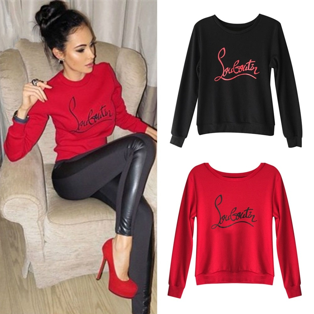 5455de1240a0af Women fleece warm sweatshirt harajuku hoodies fashion letter printed jpg  1000x1000 Women red tops