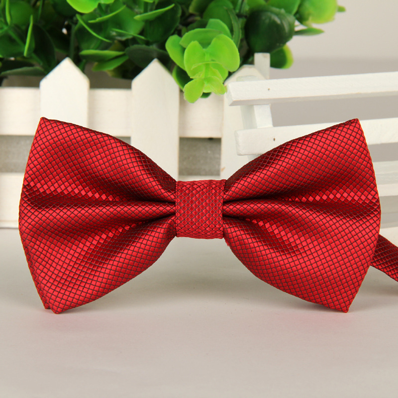 Gentleman Butterfly solid bow tie red cravat Fashion Bowties For men/'s Wedding B