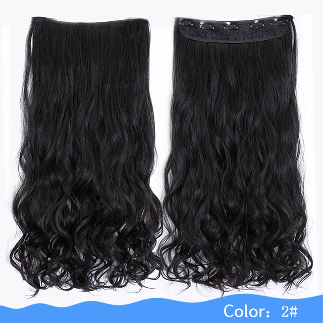 Hair Extension Heat Resistant Fake Hairpieces Long Wavy Hairstyles