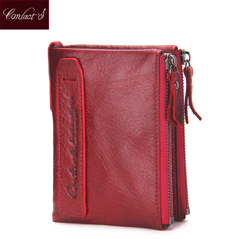 2018 Fashion Genuine Leather Women Wallet Bi Fold Wallets Id Card Holder Coin Purse With Double