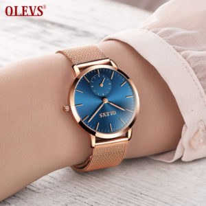 30edb1d3ed2 OLEVS Brand 2018 Hot Sale Luxury Women Watch Ladies Fashion Gold Steel  bracelet Quartz Watches Casual Lady Waterproof Wristwatch