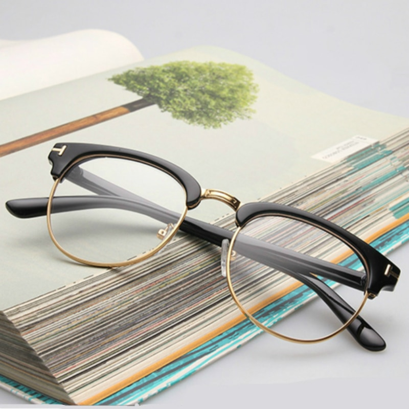 Women Myopia Optical Eye Glasses Frame Men Plain Eyeglasses Frame